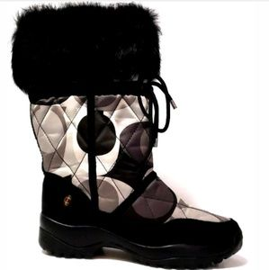 Coach Womens Winter Boots Sasha Quilted Vibram